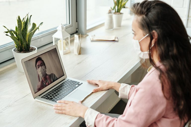 Patient is on telehealth call with physician